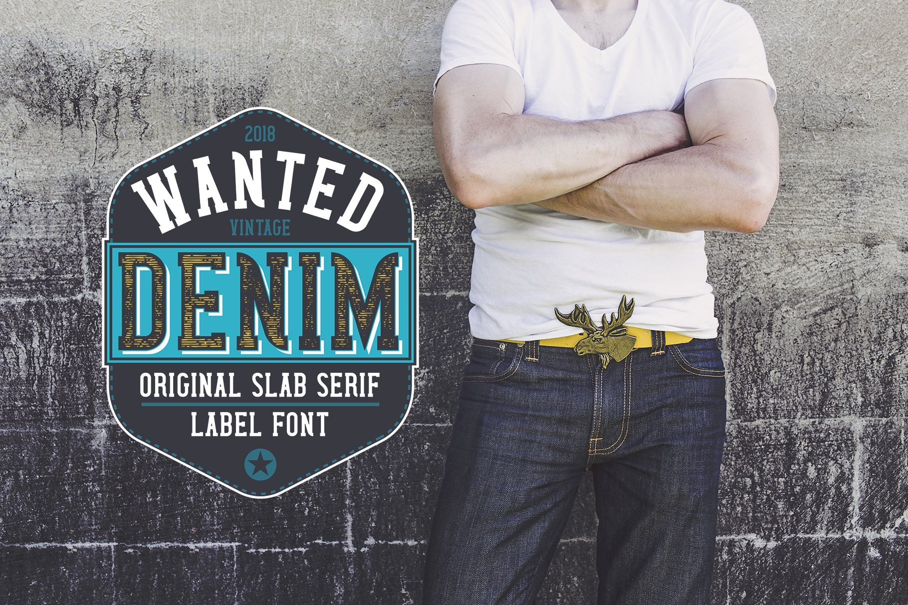 A great option for a denim label.
