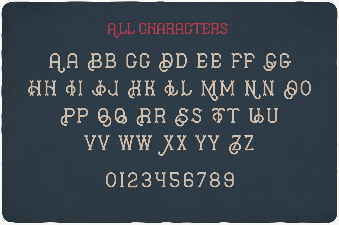 All characters of Hipster Typeface.