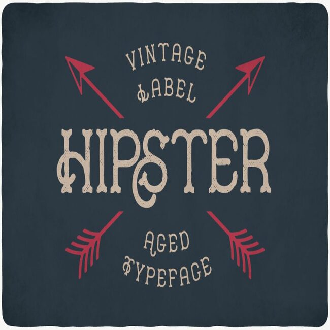 Hipster Typeface main cover.