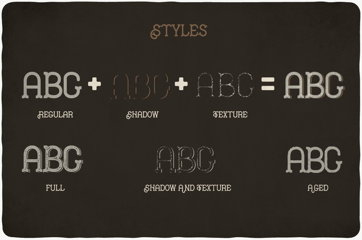 All styles of Hipster Typeface.