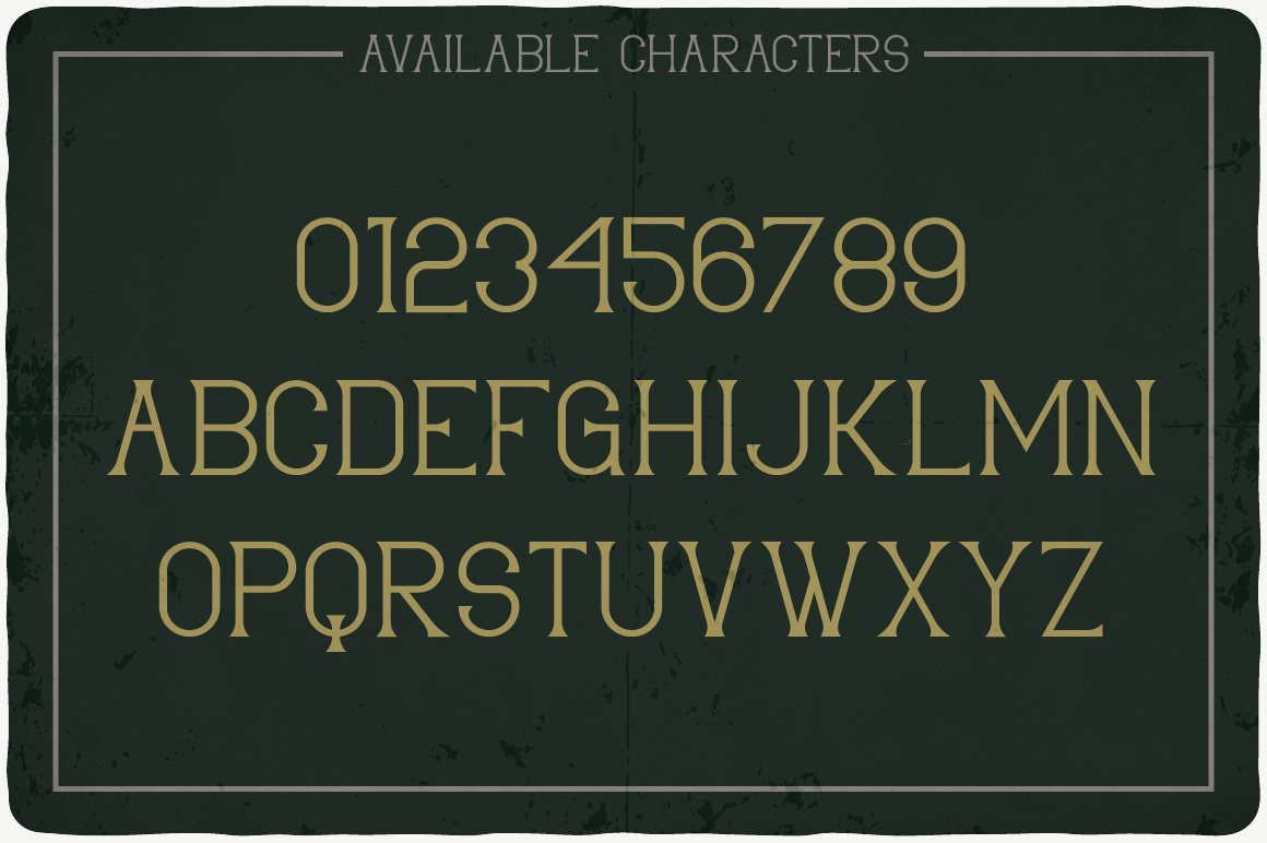 Available characters of Limited Typeface.