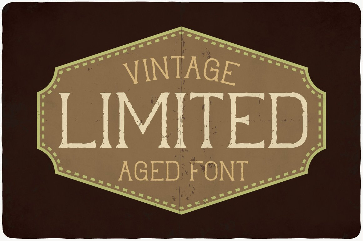 Brown vintage banner with a warm font.
