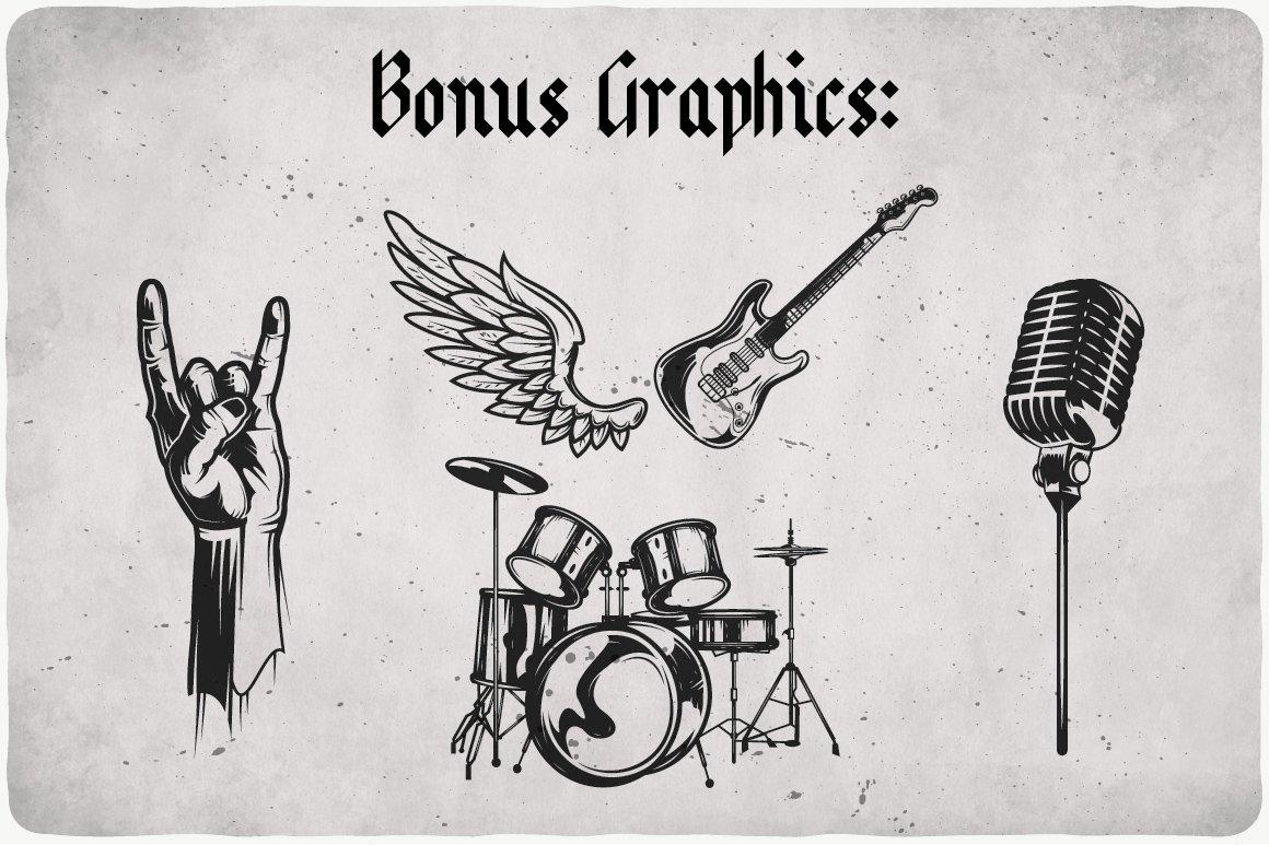 Bonus rock graphics.