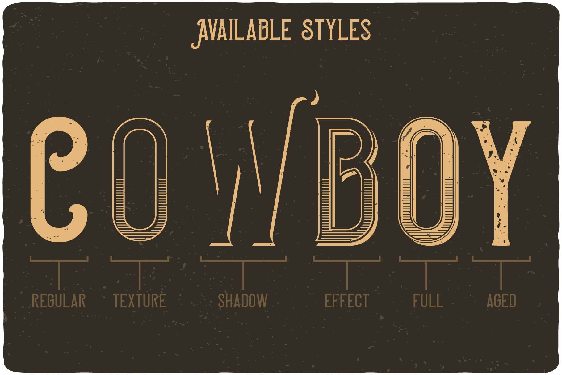 Font styles are shown in gold.