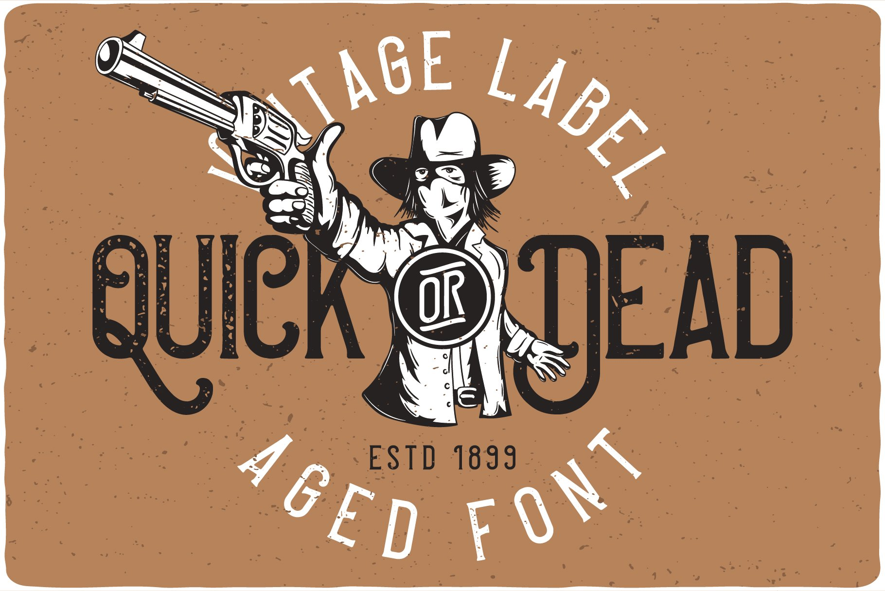 The vintage font and graphics are matched in a similar style.