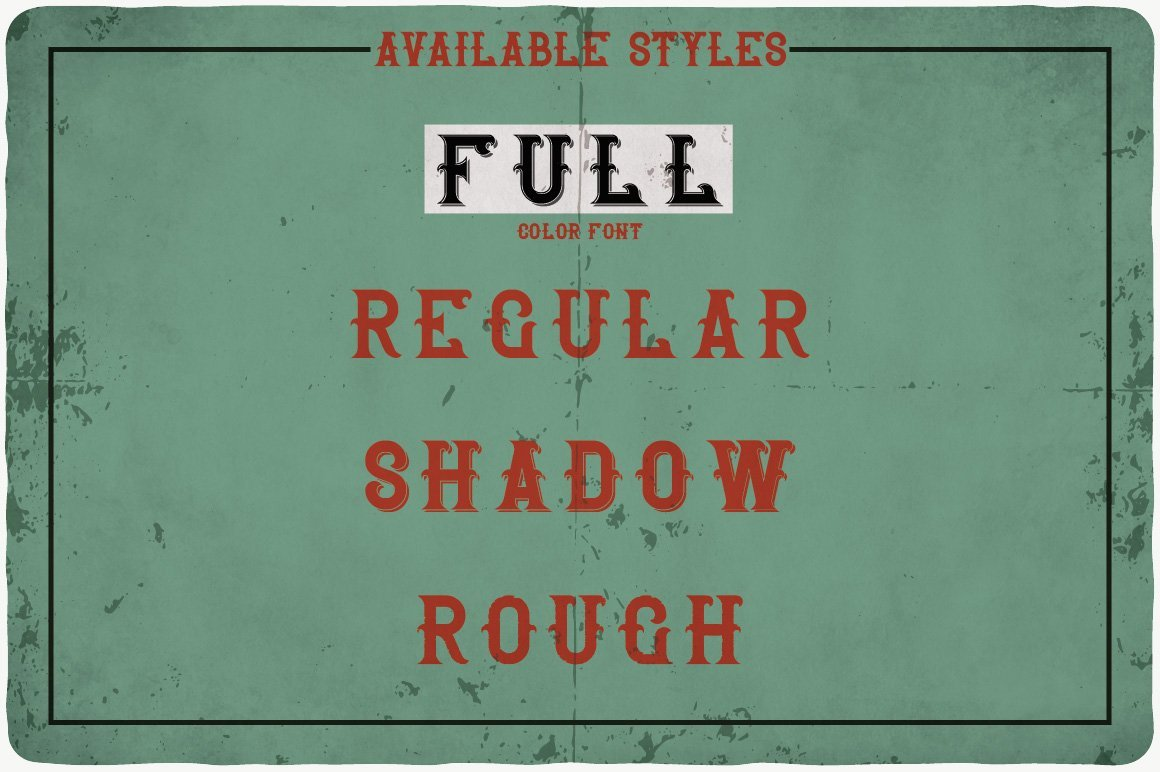 Available styles of Rover Typeface.