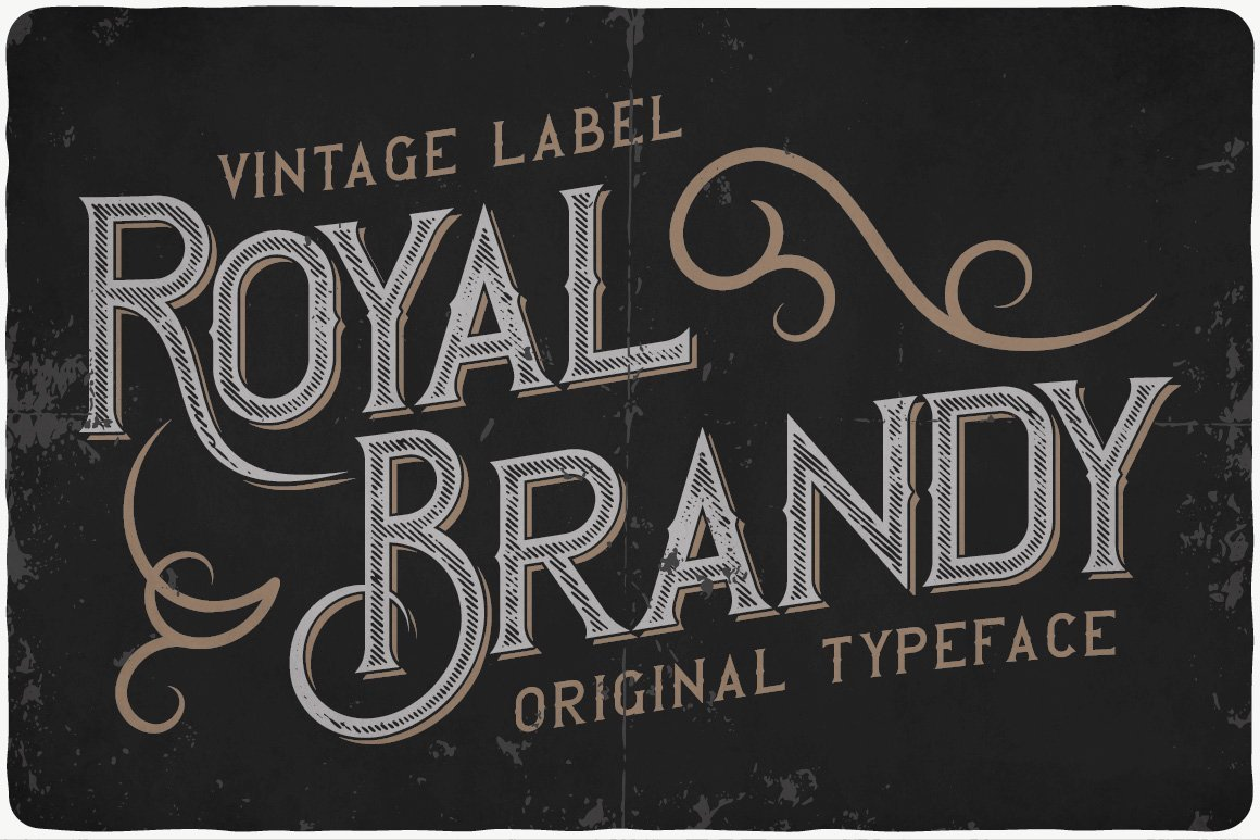 Vintage typeface with pencil-like stripes.