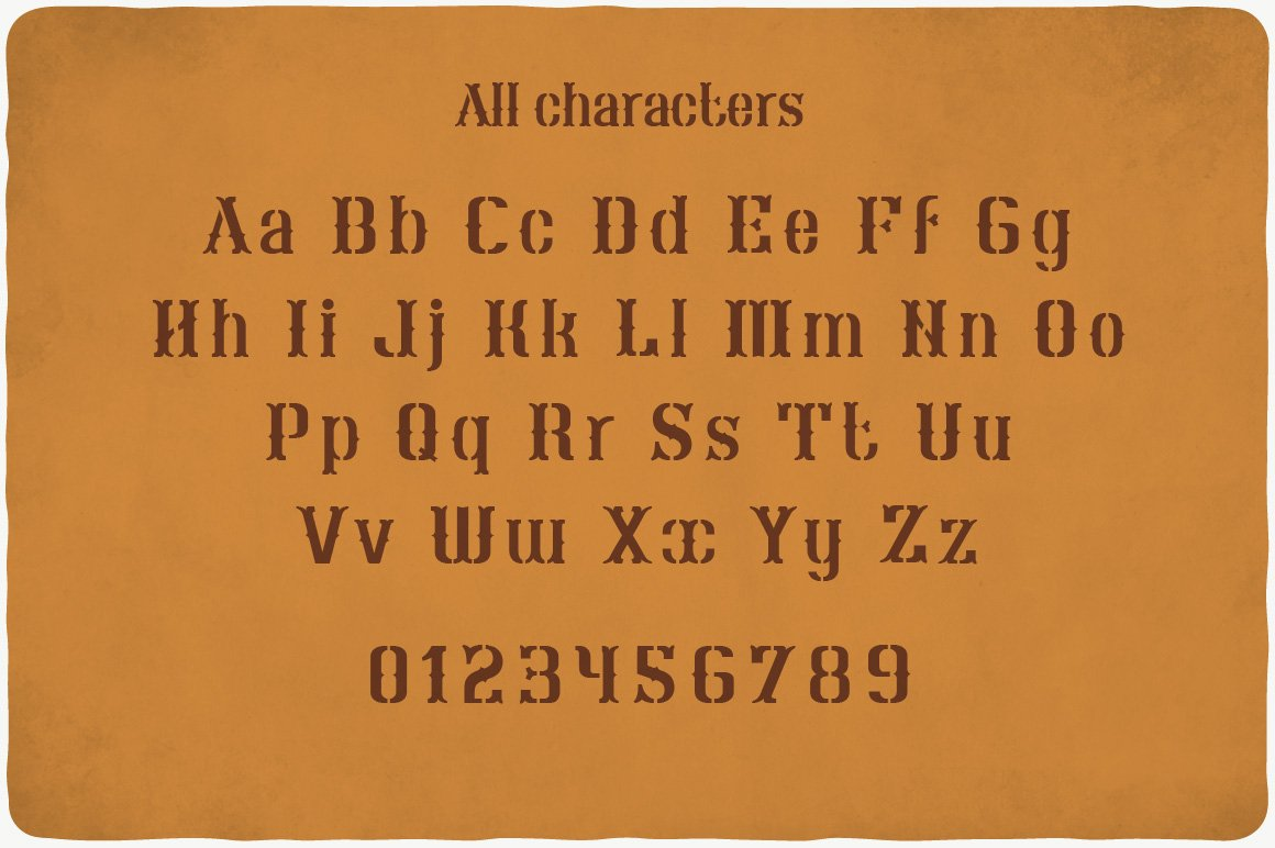 All characters of Schnaps Typeface.