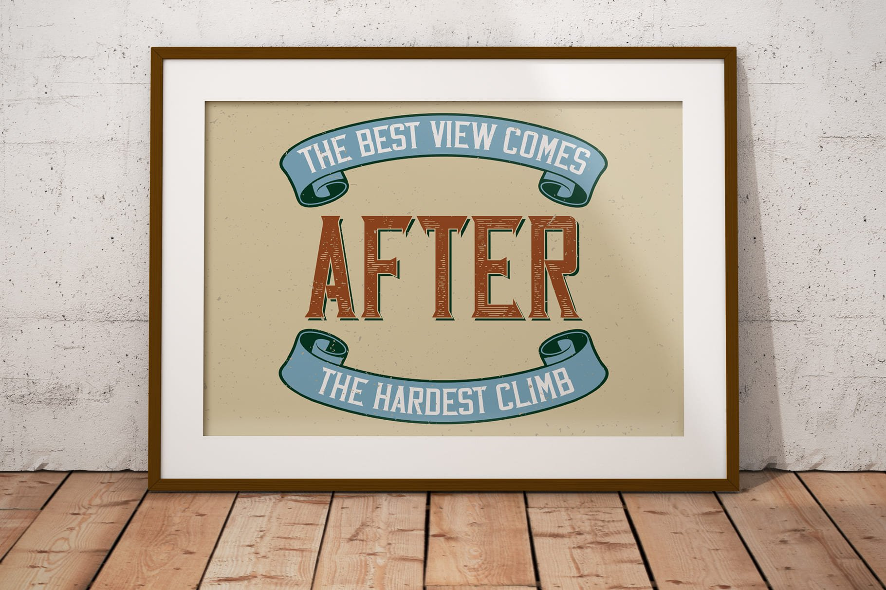 Stylish poster with vintage font.