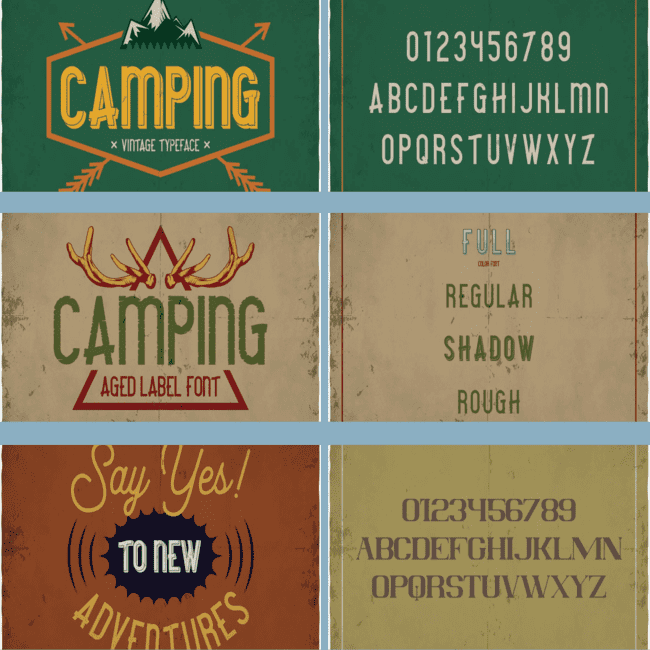 Camping typeface cover image.