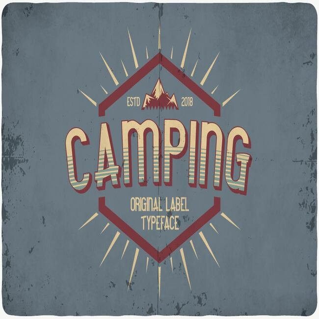 Camping typeface maib cover.