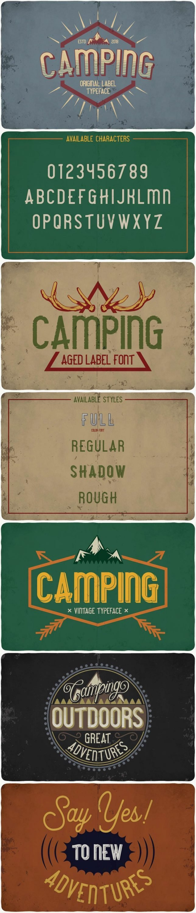 Camping Font for pinterest.