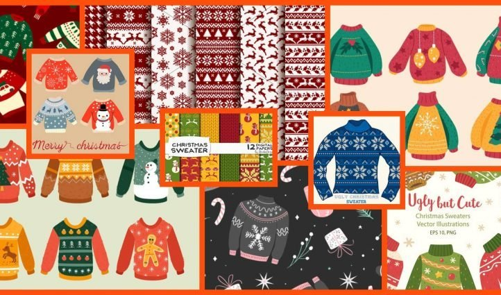 Christmas Sweater Patterns Example.