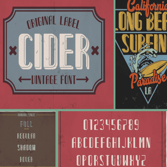 Cider typeface cover image.