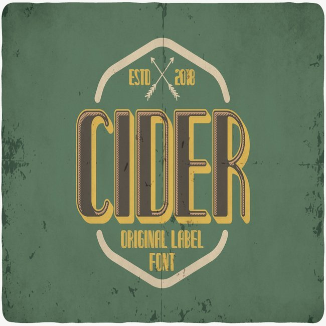 Cider typeface main cover.