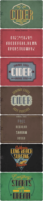 Cider Typeface for pinterest.