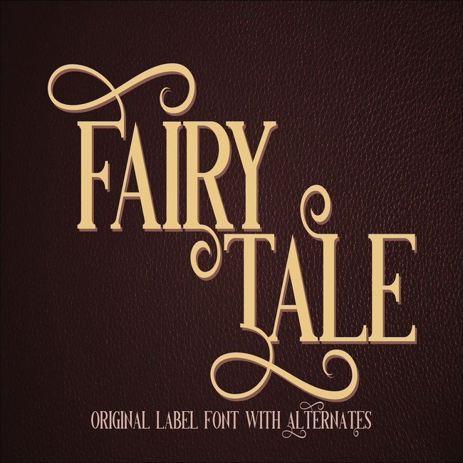 Fairy Tale Typeface main cover.