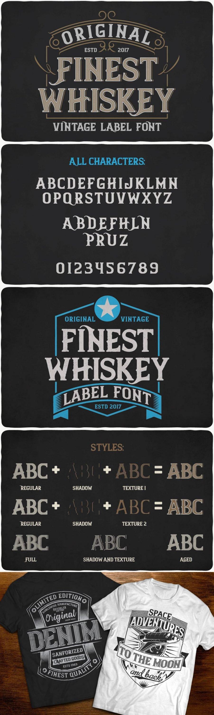 Finest Whiskey Font for pinterest.