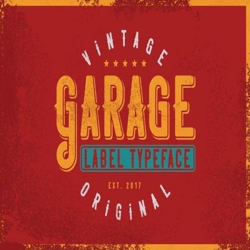 Garage typeface main image.
