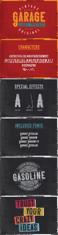 Garage Font for pinterest.