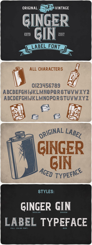 GingerGin typeface for pinterest.
