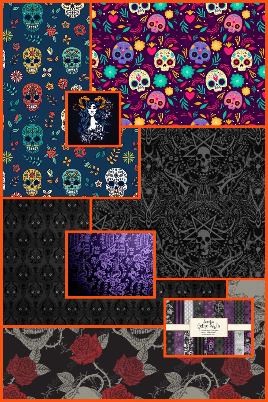 Goth Pattern Pinterest.