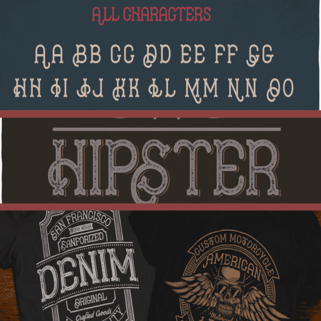 Hipster Typeface cover image.