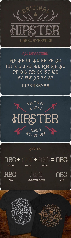 Hipster Typeface for pinterest.