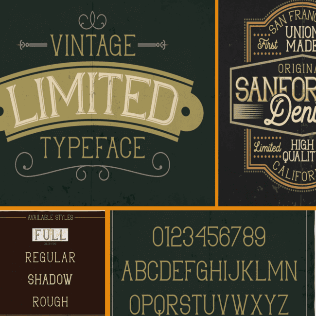 Limited typeface cover image.