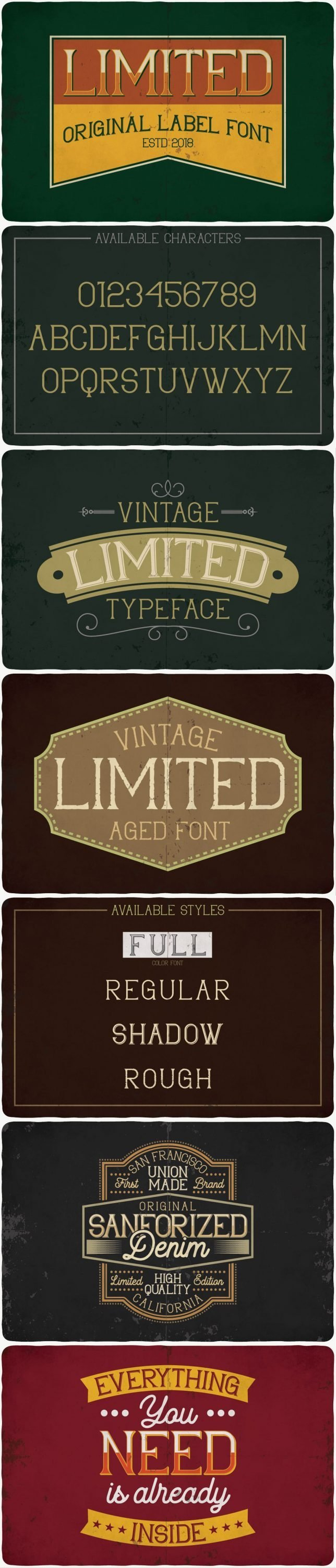 Limited typeface for pinterest.