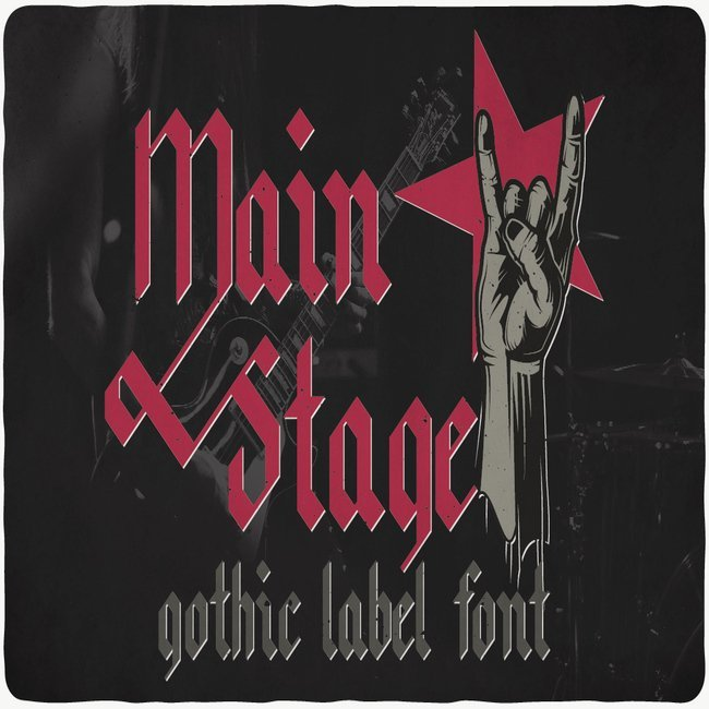 Main Stage typeface main cover.