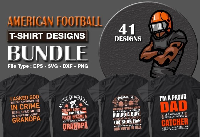 Title slide of ice american football quotes t-shirt designs.