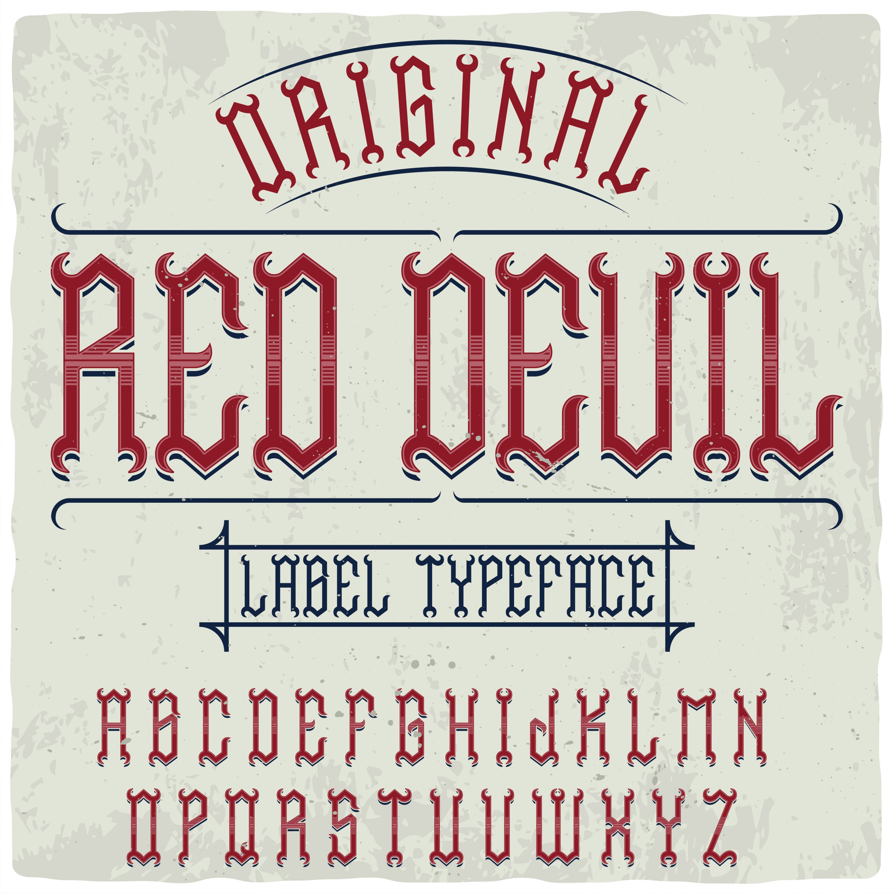 Such a fiery font with graphics.