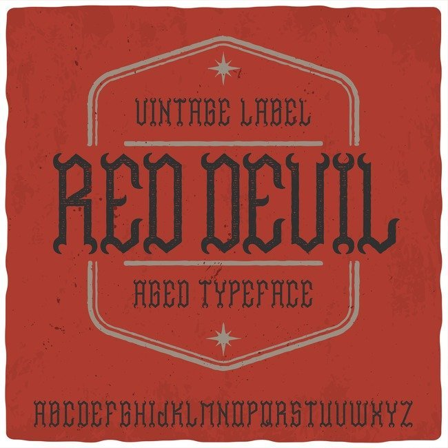 Red Devil Typeface main cover.