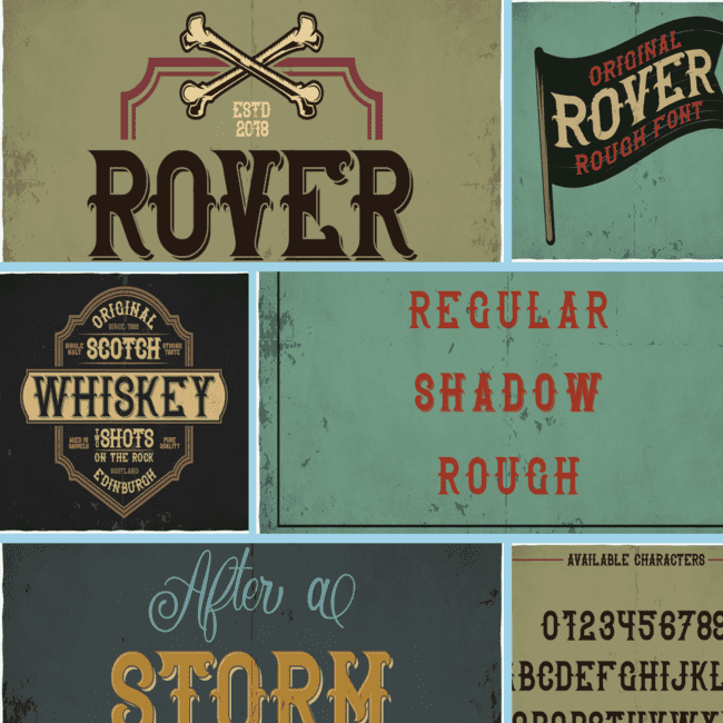 Rover typeface cover image.