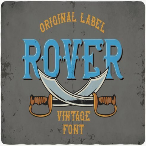 Rover typeface main cover.