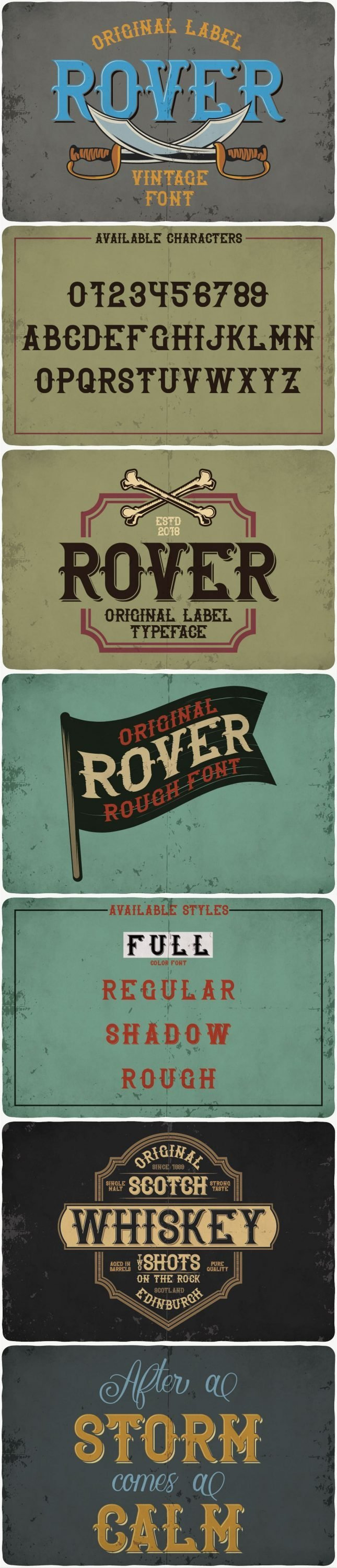 Rover typeface for pinterest.