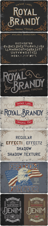 Royal Brandy Typeface for pinterest.