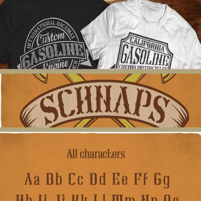 Schnaps Typeface cover image.