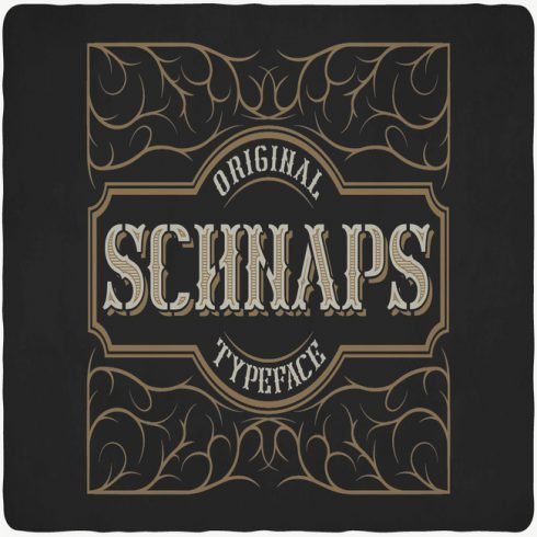 Schnaps Typeface main cover.