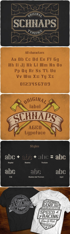 Schnaps Typeface for pinterest.