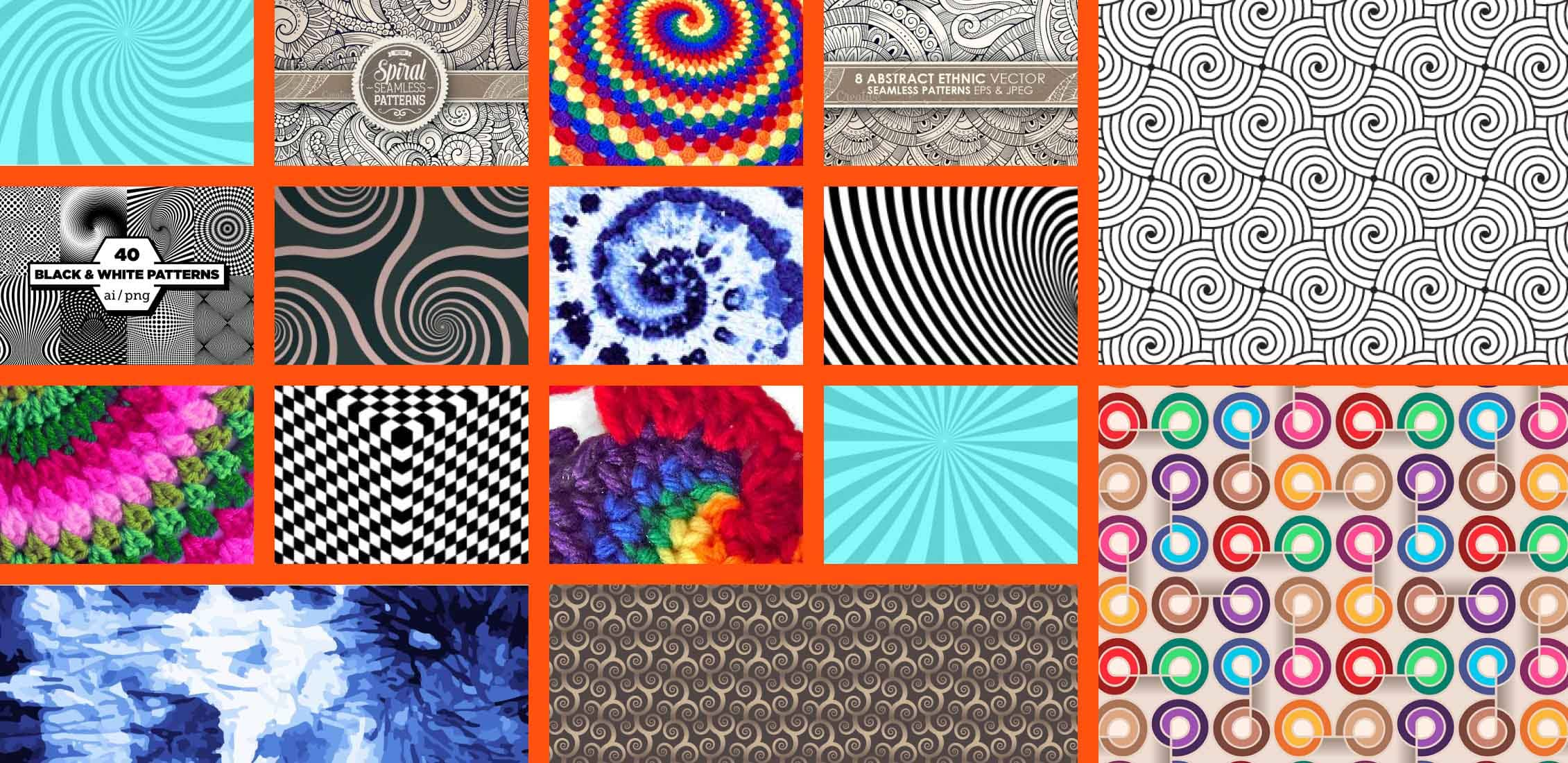 Spiral Pattern Images Example.