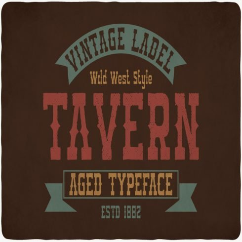 Tavern Typeface main cover.