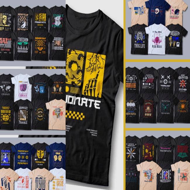 Urban streetwear T shirt designs cover image.
