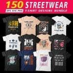 Urban streetwear T shirt designs main cover.