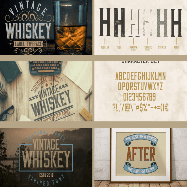Vintage Whiskey Typeface cover image.