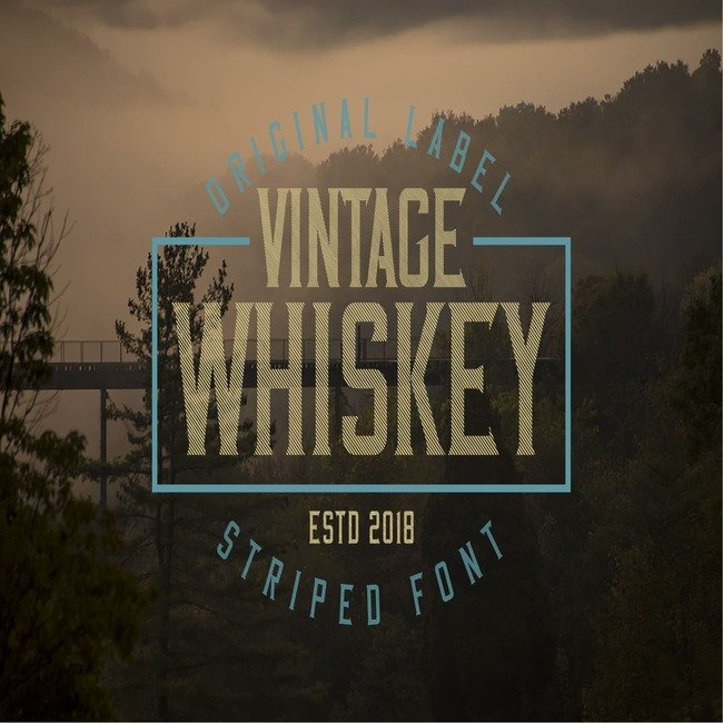 Vintage Whiskey Typeface main cover.