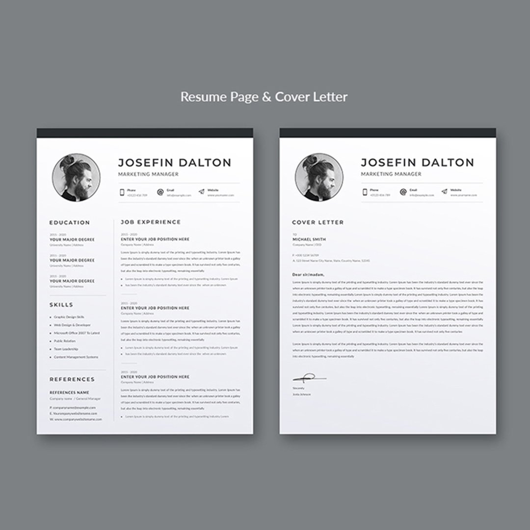 Clean Resume Template Cover image.