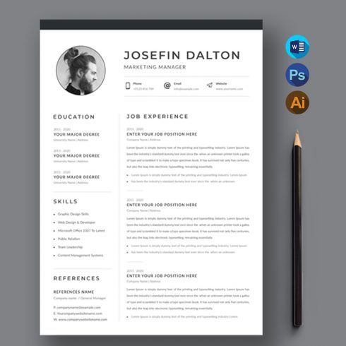 Clean Resume Template.