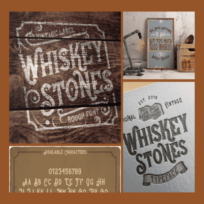 Whiskey Stones Typeface cover image.